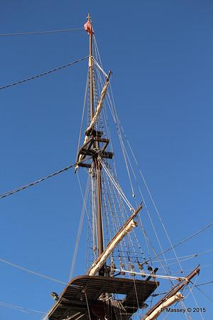 Mast Replica SANTISIMA TRINIDAD Galleon Alicante 26-11-2015 10-25-21