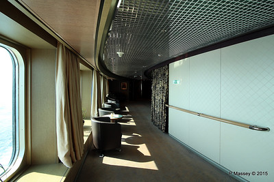 Hallway by Culinary Arts Centre Queen's Lounge NIEUW AMSTERDAM 24-07-2015 08-13-07