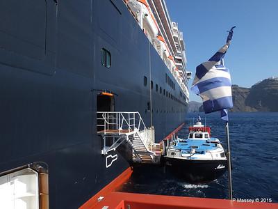 Tender MELINA alongside NIEUW AMSTERDAM Santorini PDM 18-07-2015 06-30-08