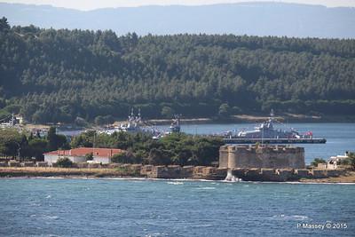 Turkish Navy Tuzla Class Patrol Vessels & Tug nr Canakkale 19-07-2015 07-24-11
