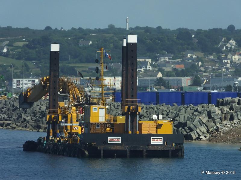 MP 26 Strabag Spud Leg Barge Pontoon Cherbourg PDM 29-06-2015 15-04-48