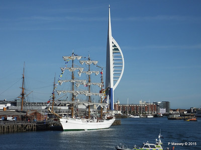Mexican Navy Training Ship CUAUHTEMOC Partial Blue Spinnaker Tower Portsmouth PDM 29-06-2015 17-43-05