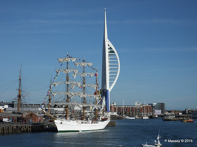 Mexican Navy Training Ship CUAUHTEMOC Partial Blue Spinnaker Tower Portsmouth PDM 29-06-2015 17-43-04