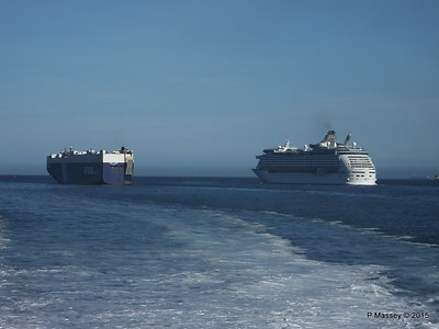 VIRGO LEADER EXPLORER OF THE SEAS Outbound Solent PDM 29-06-2015 17-24-52