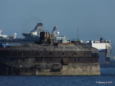 VIRGO LEADER EXPLORER OF THE SEAS Outbound Horse Sand Fort Solent PDM 29-06-2015 17-28-32