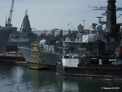 F78 HMS KENT TCL Fuel Lighter Portsmouth PDM 29-06-2015 07-57-39