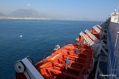 THOMSON SPIRIT Port Lifeboats Alanya Departure PDM 30-04-2015 13-55-44