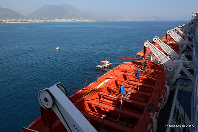 THOMSON SPIRIT Port Lifeboats Alanya Departure PDM 30-04-2015 13-55-39