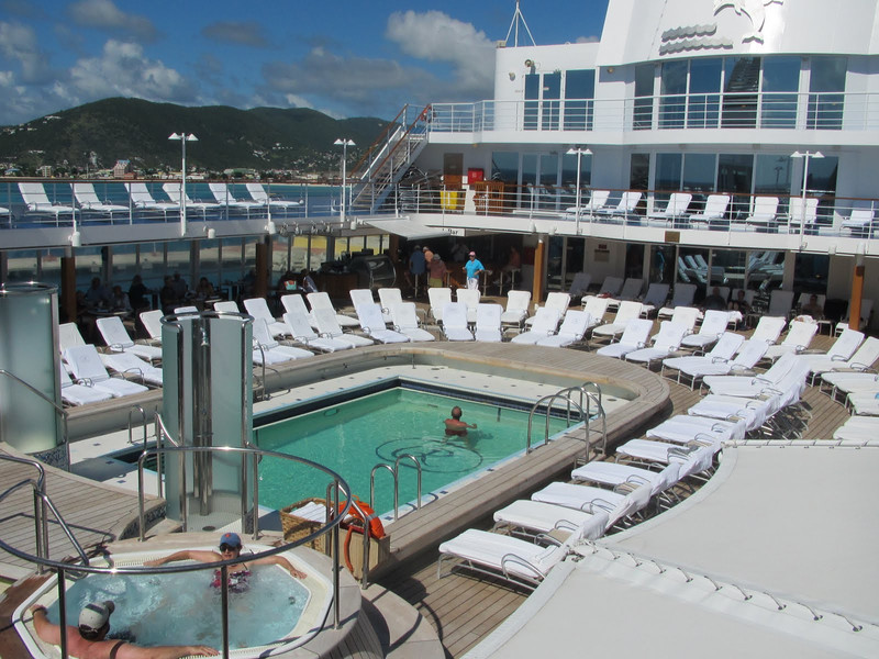 The pool deck