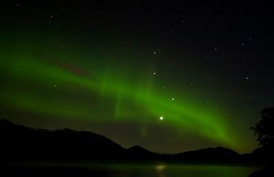 Northerlights,  AURORA BOREALIS Prince William Sound Whittier Alaska