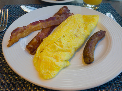 This is what an omelette should look like.  You need to go to the Lido Buffet to get it however.