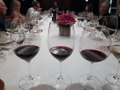 "From Left to Right: Cabernet Sauvignon, Bin 707, Penfolds, Barossa Valley, South Australia, 2010.  Vega Sicilia, ""Valbuena"", Riberia del Duero, Spain, 2009 and the  Tuscan from earlier"