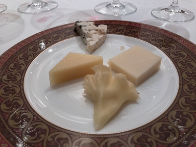 Selection of artisanal cheeses