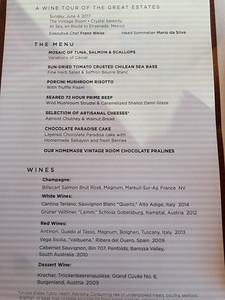 Vintage Room menu