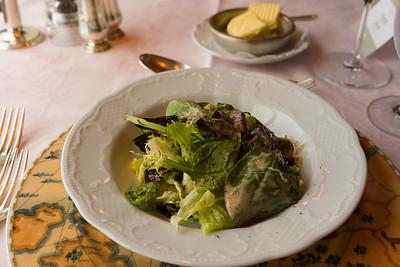 Crisp lettuce salad in Russian dressing