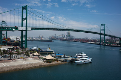 Easier to build a tall bridge than one that has to open/close for marine traffic.