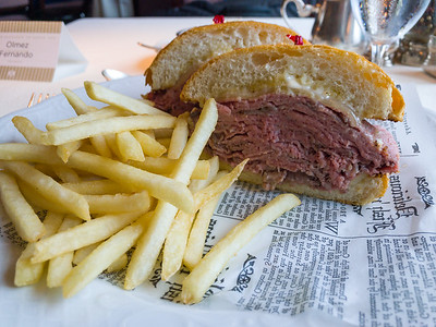 French dip with fries.