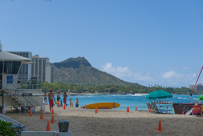 Diamondhead from the beach in front of Dukes.