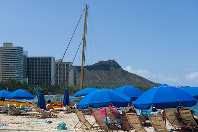 Diamondhead from the beach in front of Dukes
