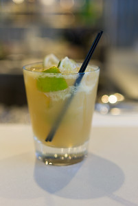 A Crystal recipe  Caipirinha.  Crystals recipe uses brown sugar(!).  Lesson of the drink: Ask how the bartender will make the drink on Crystal.  They have some rather divergent versions of drinks.