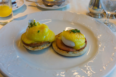 Eggs Benedict.  Unlike other lines Crystal seems to know that one of the ingredients is lemon juice.