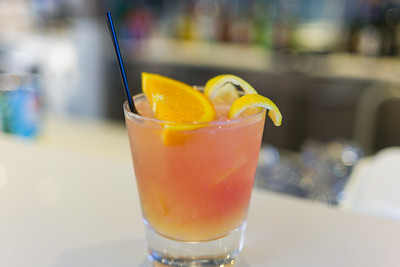 Drink of the day, a Sunsplash.  Absolut Mandarin, Triple Sec, Cranberry juice, Fresh OJ, Lemon Sour.