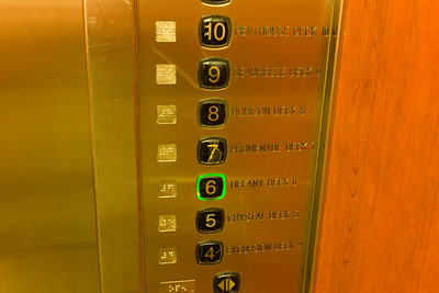 The elevator buttons had seen better days.  FAR better days.