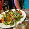 mmm rabbit food topped with cat food. (aka Spicy Tuna Sashimi Salad).
