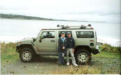 Our Hummer tour on Nova Scotia