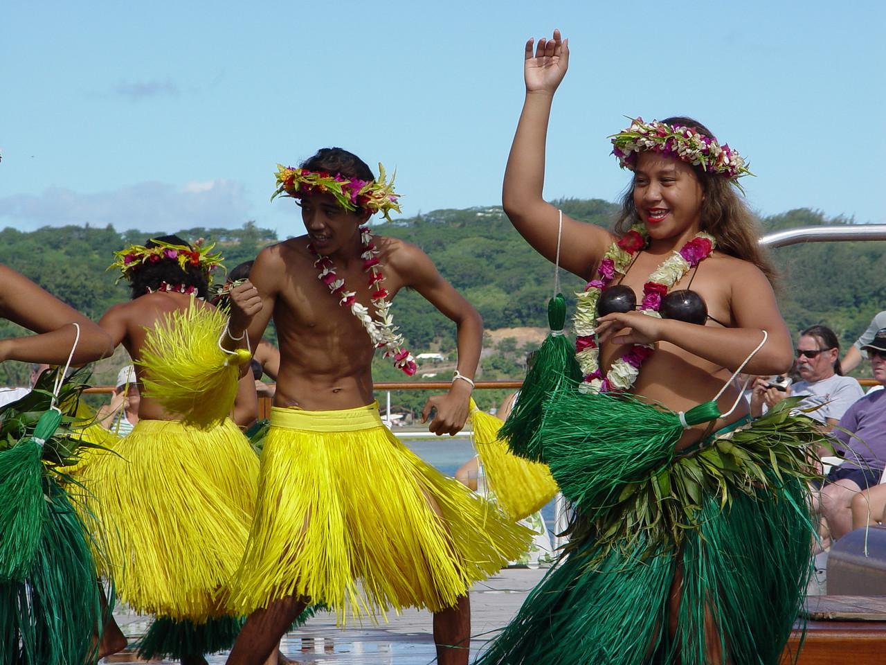 Dancers on the Paul Gauguin