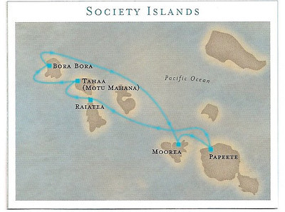This is a map of our itinerary.