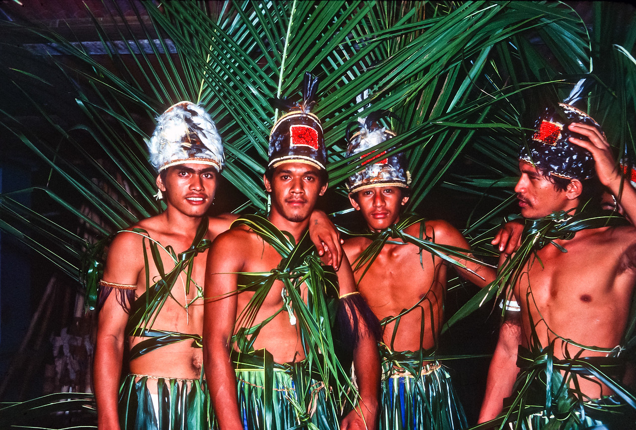 Listening to drums led us to the locals practicing their song and dance for Fete.  Fete is the month long festival celebrated throughout Polynesia.