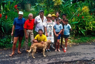 Our old friends Joe (1st on left) and Cathy (5th from left) of VIAJERO, with another crew, invited us to join them to visit their friend Moe and his family at their home.
