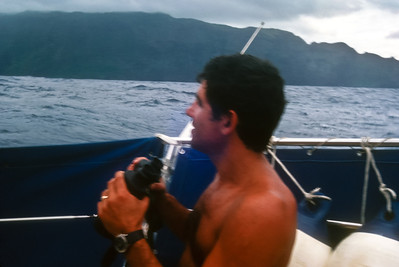 Ron, looking for the village of HIva Ova's harbor.