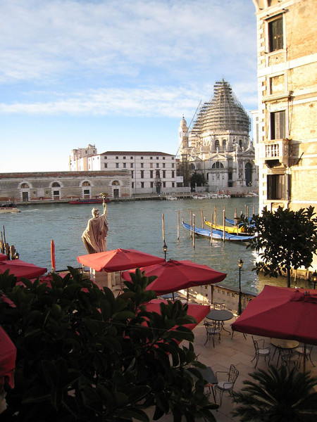 Venice - View of the Grand Canal from our hotel room