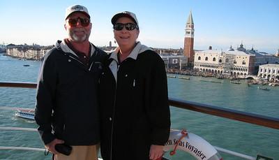 Bon voyage party as we leave Venice!