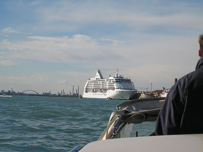 Venice - There she is - our home for the next 30 days!