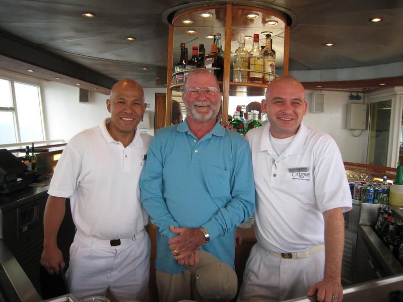 The bald trio - Rambo, David and Alpa