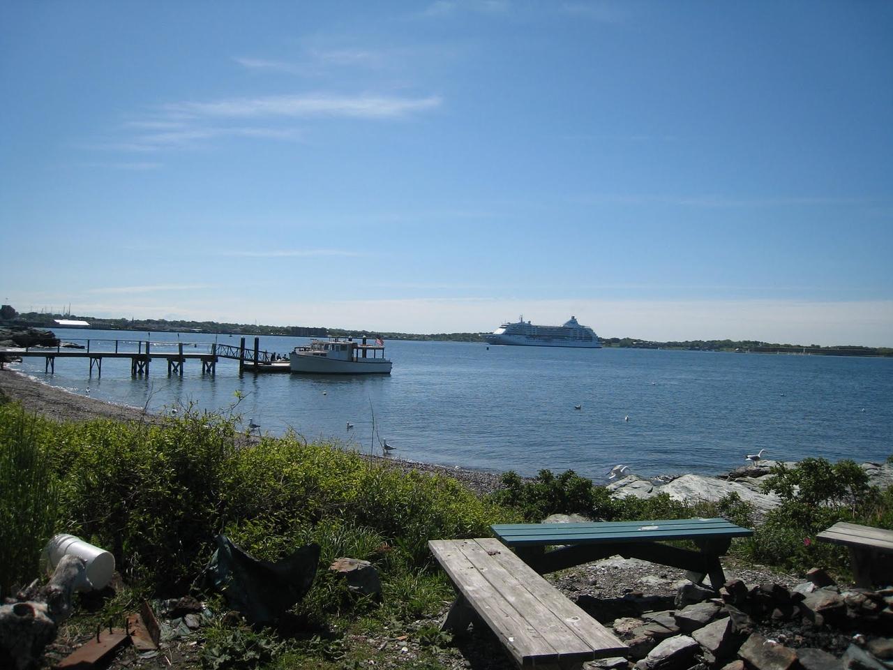 View from Rose Island, Newport, Rhode Island