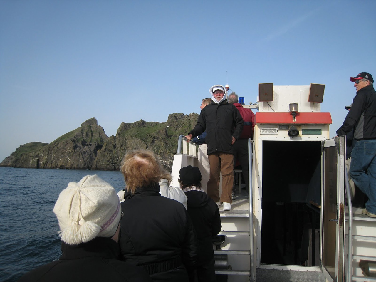 Boat trip around island of Heimaey, Iceland