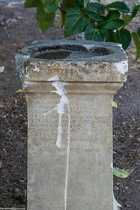 A pedestal I can't read