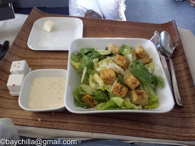 Sadly the best caesar salad was to have been had a few weeks ago.  Both Oceania and Delta fail at making this dish.
