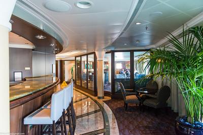 Horizons bar on left, smoking room center