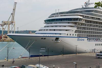 Riviera docked in Koper