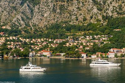 Sailiing into Kotor