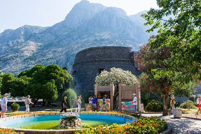 Fountain and a fort in Kotor