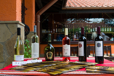 The wines they offered, local pricing on the left, price in Euros on the right