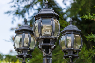There are three modern energy efficient lights