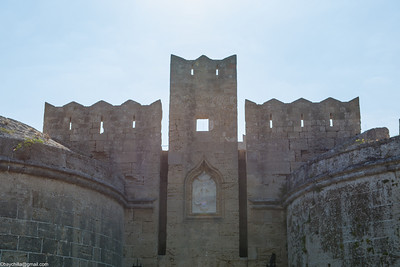 Turrets above an old town gate