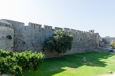 Walls and balls, Rhodes old town